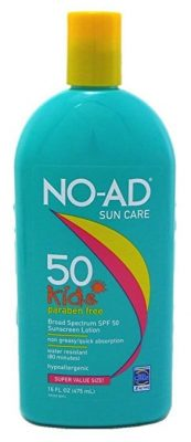 NO-AD Kids Suncare Sunscreen Lotion SPF50