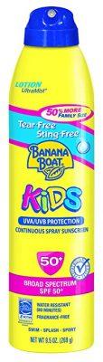 Banana Boat Sunscreen Ultra Mist Kids Sunscreen Lotion SPF50