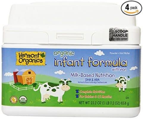 Vermont Organics Milk-Based Organic Infant Formula with Iron