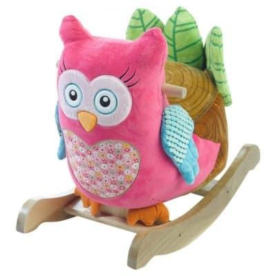 Rockabye Owlivia Pink Owl Rocker