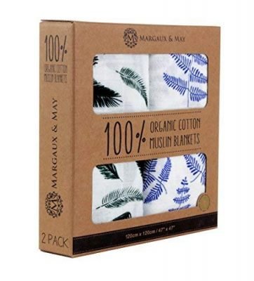 Organic Muslin Swaddle Blanket by Margaux & May