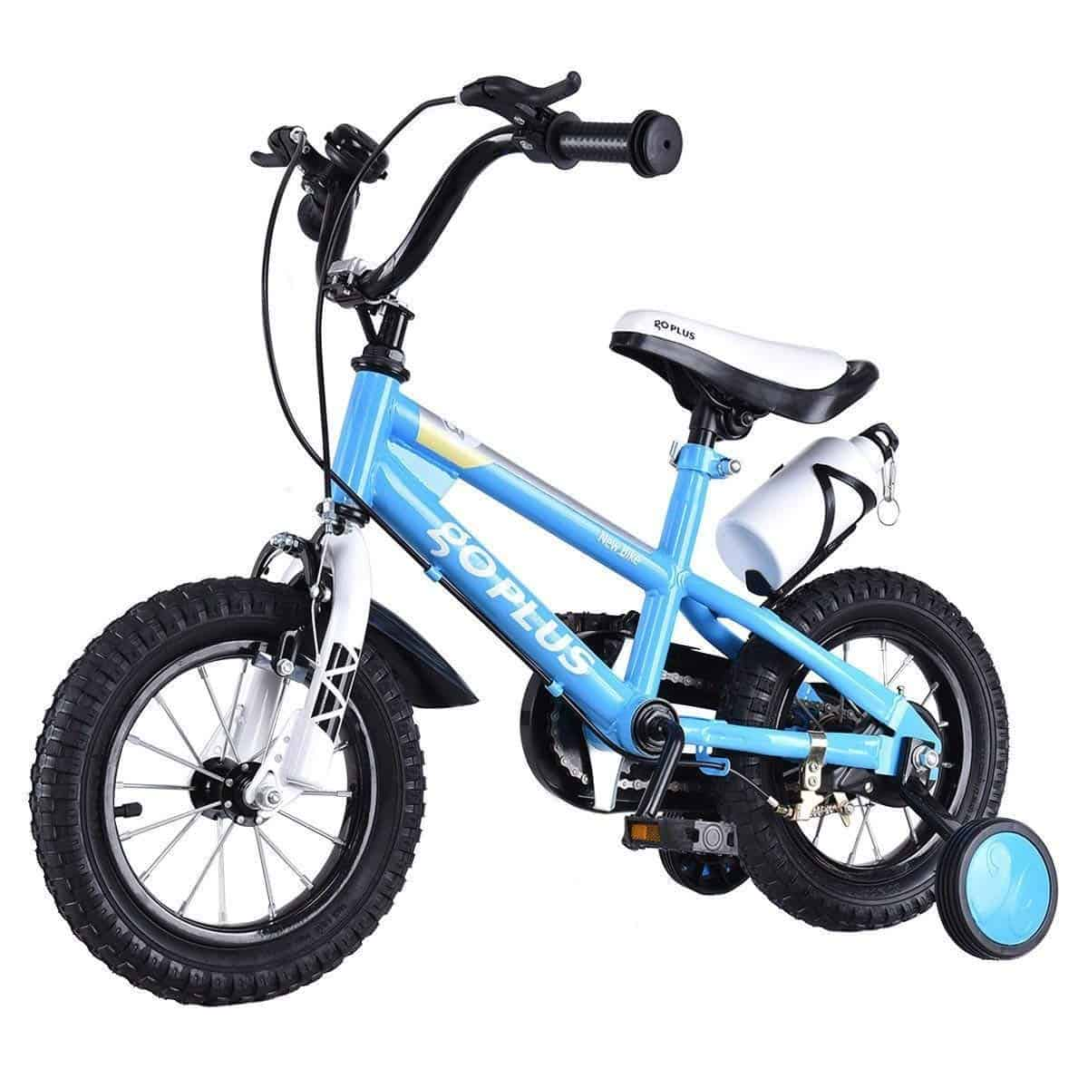 "New 12/"" Kids Pink or Purple Girls Children Bike w Removable Training Wheels"