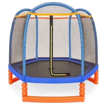 Best Choice Products 7FT Kids Outdoor Mini Trampoline