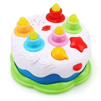 Amy & Benton Kids Birthday Cake Toy with Counting Candles & Music