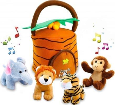 KLEEGER Jungle Animals Plush Toy Set