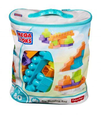 Mega Bloks Big 80 Piece Building Bag