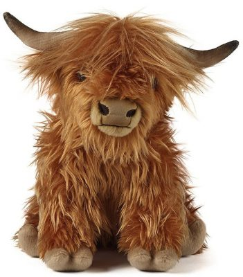 Living Nature Highland Cow Soft Toy