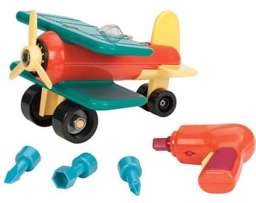 Battat Take-A-Part Toy Vehicles Airplane Green