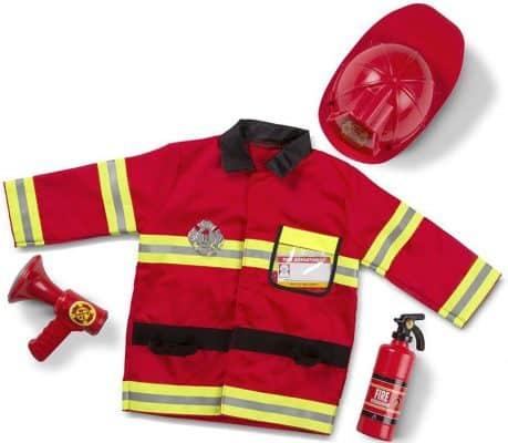 Melissa & Doug Fire Chief Role Play Costume Dress-Up Set