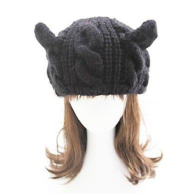 Zerowin Cute Woollike Knitted CAT Kitty Ears