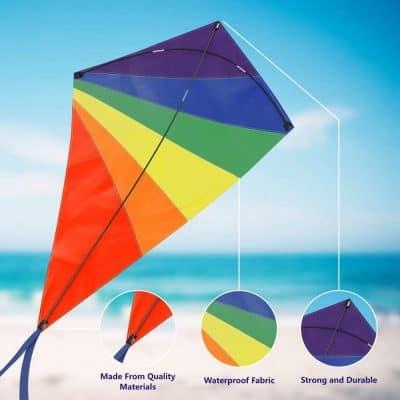 aGreatLife Boys Diamond Kite Easy Flyer