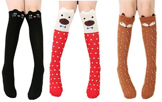 CISMARK Cartoon Knee High Socks
