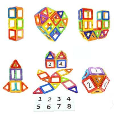 Educational Toys Magnet Building Block Tiles Set