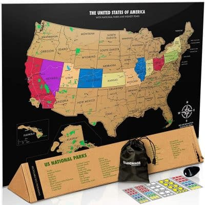 Scratch Off US Map with National Parks