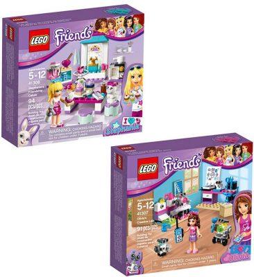 LEGO Friends Olivia & Stephanie 66569 Building Kit Bundle
