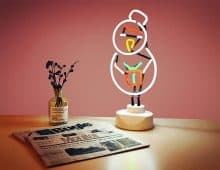 Binpemax Indoor Decorative Neon Light Figurine