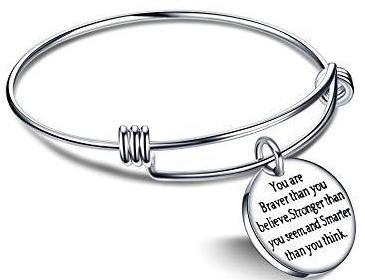 Inspirational Expandable Bangle Bracelet