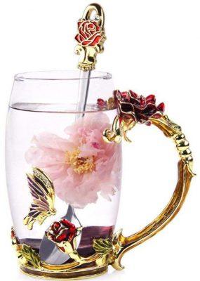 NBHUZEHUA Glass Coffee Mug Handmade Tea Cup