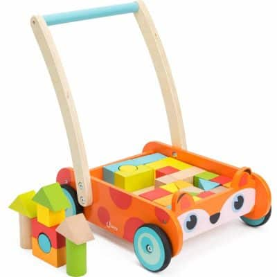 Cossy Wooden Baby Learning Walker Toddler Toy