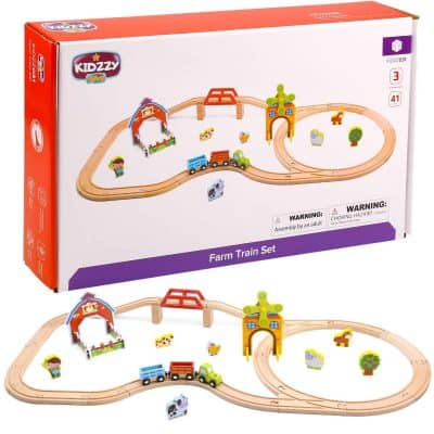 Kidzzy Toys Wooden Trains