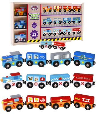 Wooden Trains Set for toddlers