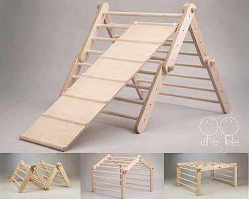 Modifiable Pikler triangle Mopitri - climbing ladder for kids