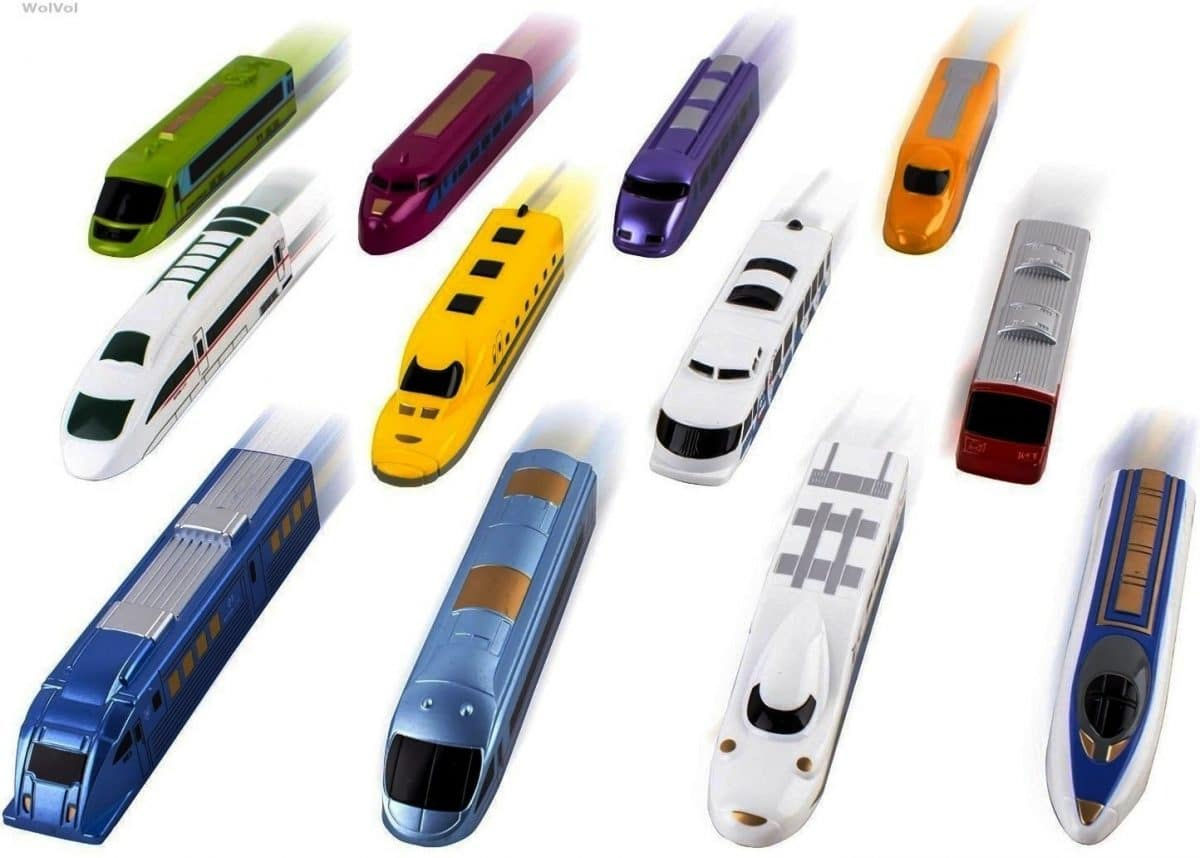 Pull Back Bullet Train Toy Child Kids Boy Girl Gift Toy Vehicles Train Models TW