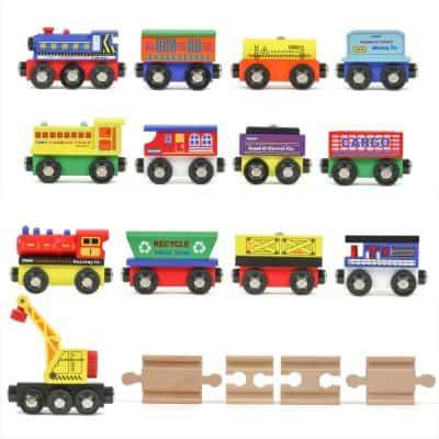 Tiny Conductors 12 Wooden Train Cars