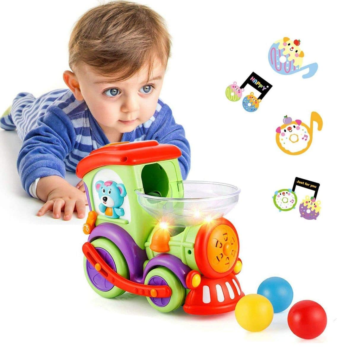 Baby Intelligence Plastic Hand Bell Rattle Funny Educational Toy Xmas  Gift 6ON