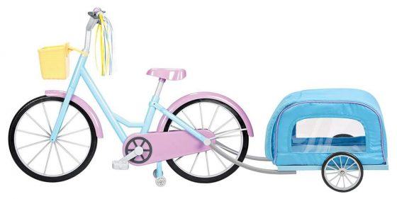 """Kindred Hearts Dolls 18"""" Bicycle with Pet-Trailer"""