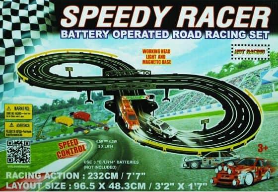 Golden Bright B/O Speed Racer Racing Set