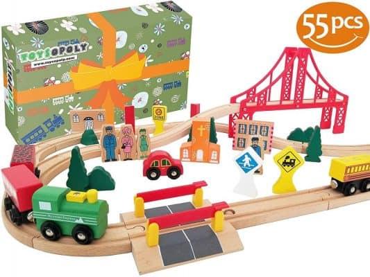 ToysOpoly Wooden Train Tracks Full Set