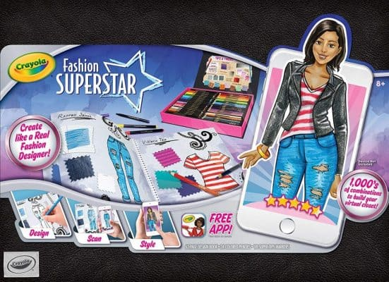 Crayola Fashion Superstar App and Coloring Book