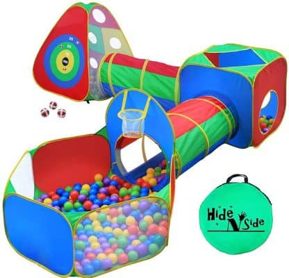 Hide N Side 5pc Kids Ball Pit Tents and Tunnels
