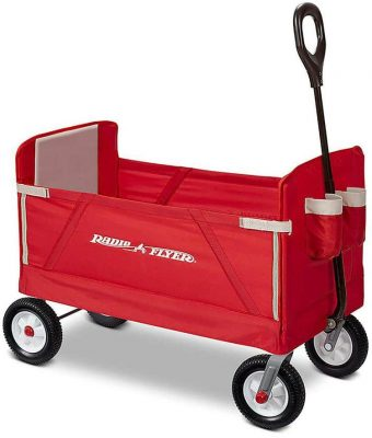 Radio Flyer All-Terrain 3-in-1 EZ Folding Wagon for kids and cargo