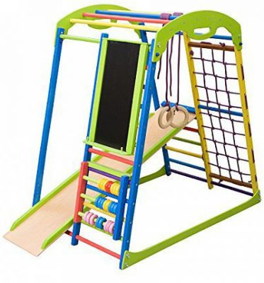 Dani LLC Colored Indoor Wooden Playground
