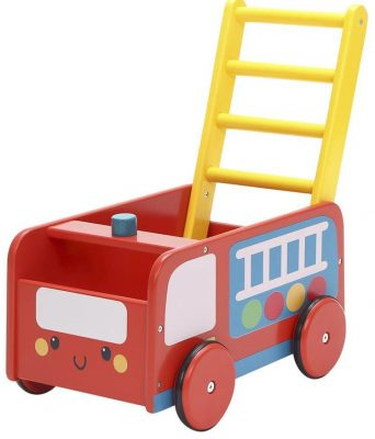 Labebe Baby Walker with Wheel, Red Fire Truck Walker
