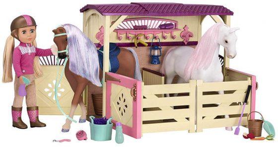 All Asparkle Acres Riding Stable Set- Glitter Girls by Battat