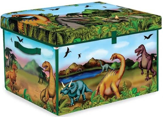 ZipBin 160 Dinosaur Collector Toy Box & Play Set