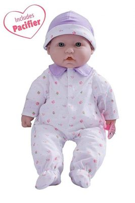 JC Toys La Baby 16-inch Purple Washable Soft Baby Doll
