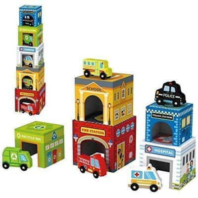 Play Vehicles 5 Cars and Stack-able Garages