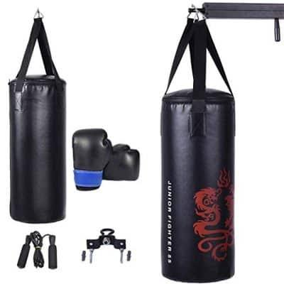 Gymax Kids Punching Bag Set