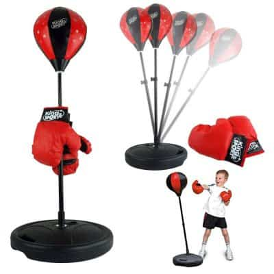 Liberty Imports Sports Boxing Set Punching Bag with Gloves