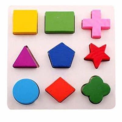 Gybber & Mumu Wooden Preschool Colorful Shape Puzzle