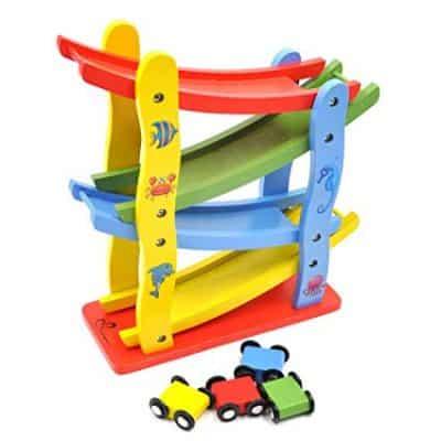 GYBBER&MUMU Toddler Wooden Car Toys