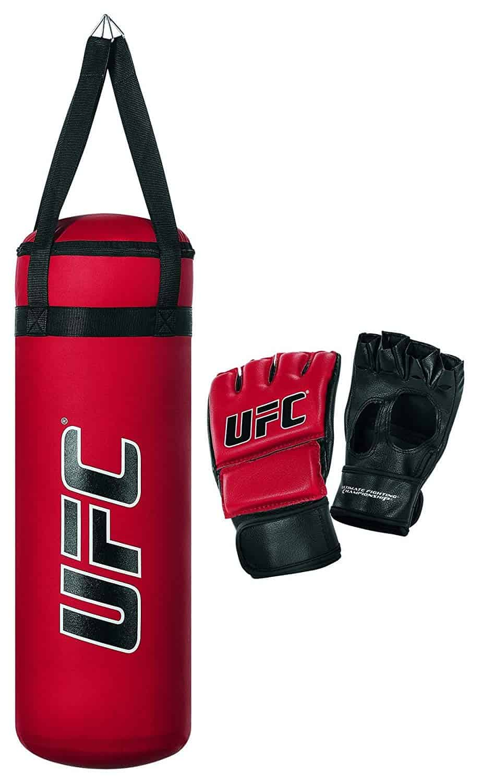 Youth Kids Boxing Set Kit Training Bag Punching Bag Gloves Heavy Bag Red
