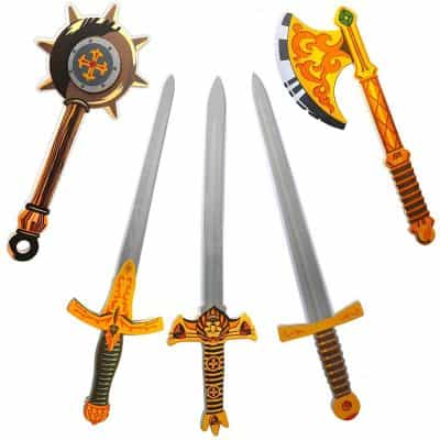 Liberty Imports 5 Pack Assorted Big Foam Swords Toy Set