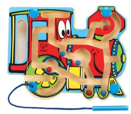 Hape Choo Choo Tracks Kid's Magnetic Wooden Maze Puzzle