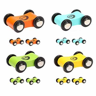 TOP BRIGHT Wooden Car Ramp Race Track