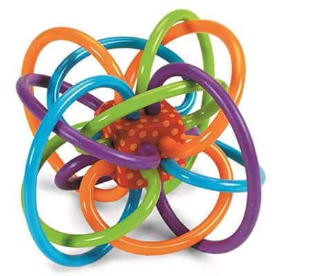 Manhattan Toy Winkel Sensory and Rattle Teether Toy